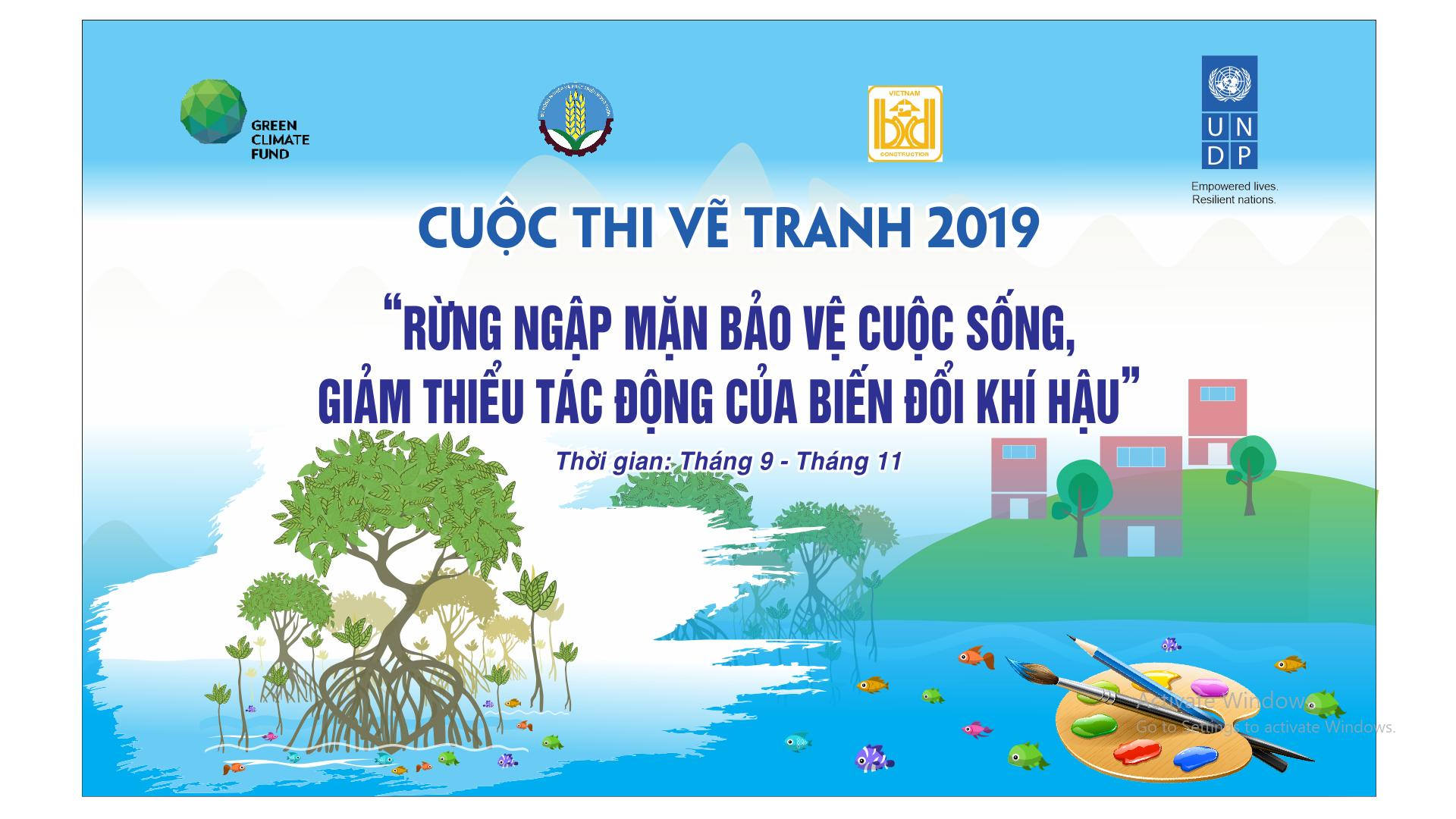 """Mangroves protect lives and minimize the impact of climate change"" – Drawing competition for high school students in coastal provinces."